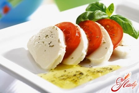 рецепты с сыром моцарелла