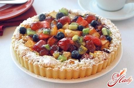 пирог с ассорти фруктов