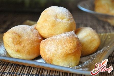 рецепт пончиков на твороге