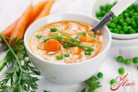 диетический суп пюре из овощей
