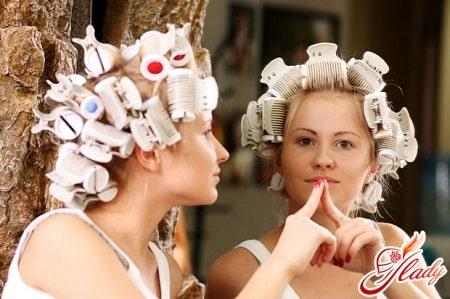 завивка волос термическими бигудями