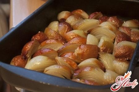 печеный лук для лечения жировика народным методом