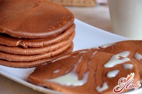 шоколадные американские блины