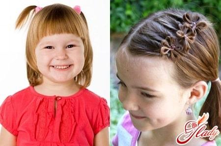 веселые прически на короткие волосы для детских волос