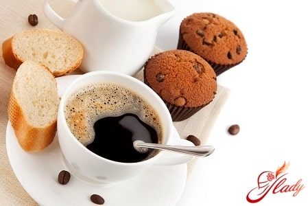 вкусный черный кофе