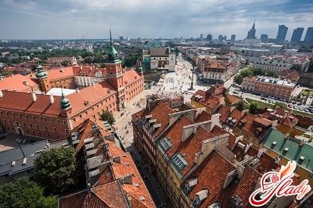 Вид на исторический центр Варшавы