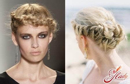 простые плетения для волос