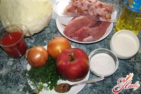ингредиенты для польского бигоса