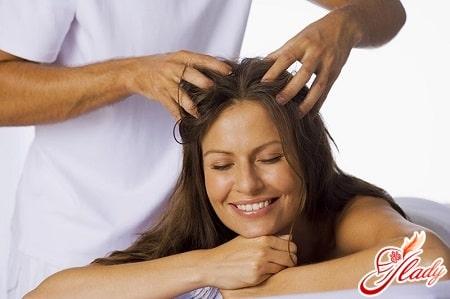 массаж головы с солью для роста волос