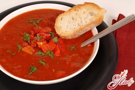 вкусный суп гаспачо
