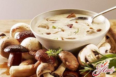 разные рецепты грибного супа
