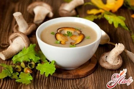 вкусный грибной суп - пюре