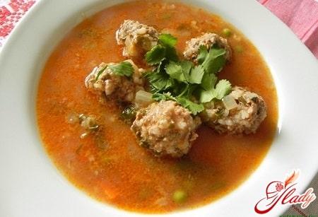 разные рецепты супов с тефтелями