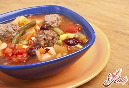 вкусный суп с тефтелями