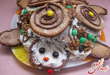 вкусный торт черепаха
