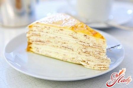 рецепт торта из блинов