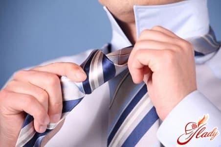 крестовой узел для галстука
