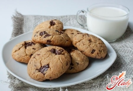 вкусное печенье с шоколадом