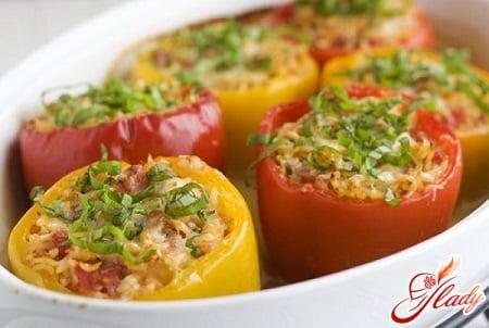 рецепты фаршированного перца