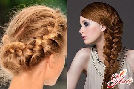 плетения для прямых волос