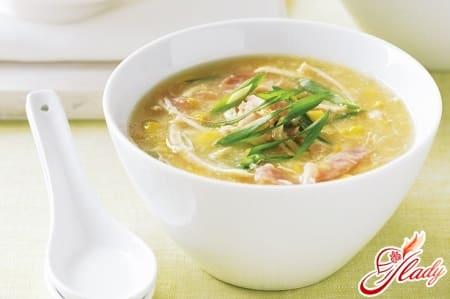 куриный суп с грудкой