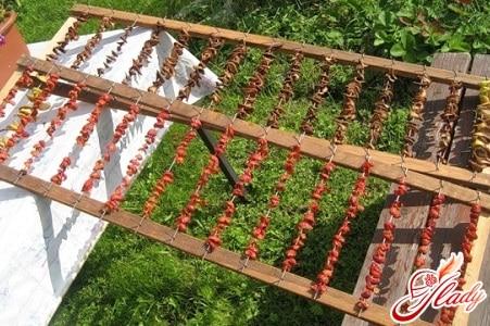 сушка грибов деревенским способом