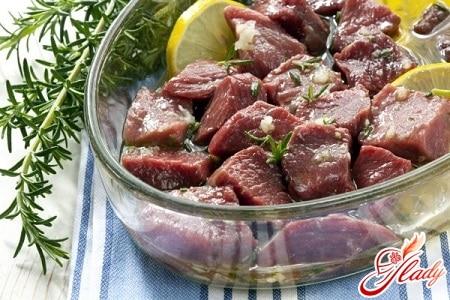 мясо в маринаде