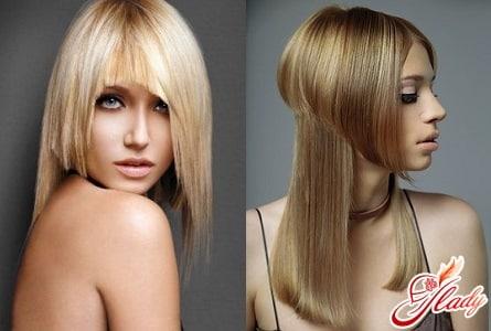 ассиметричные стрижки на длинные волосы