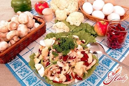 разные рецепты салата с цветной капустой