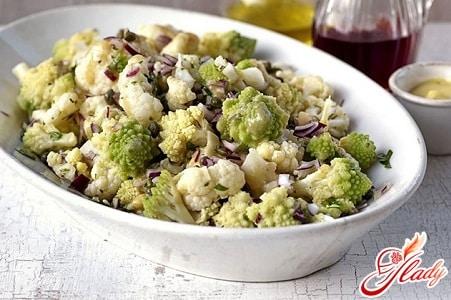 кулинарные рецепты салат из цветной капусты
