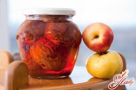 заготовка яблок в банки