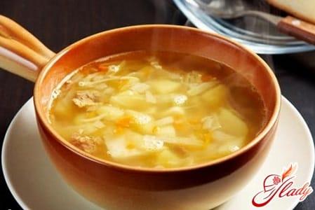 легкий капустный суп