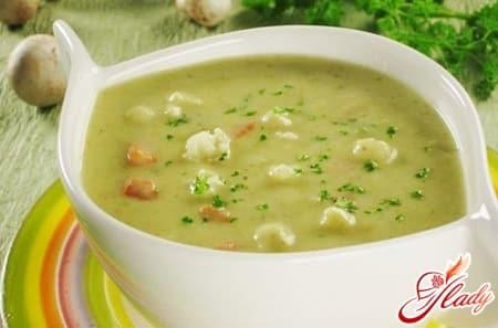 овощной суп пюре из кабачков