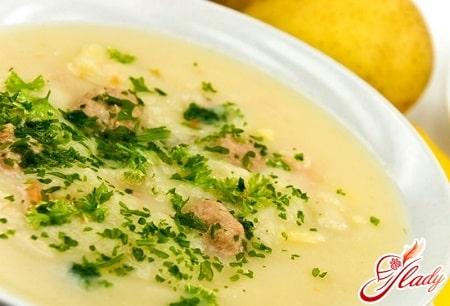овощной суп пюре с зеленью