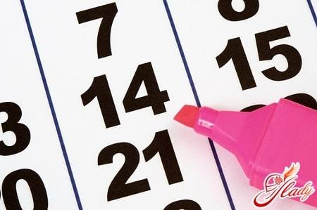 счет дней по календарю