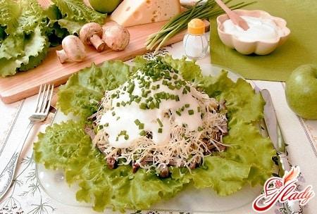 простой салат с сыром