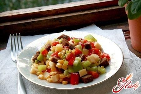 разные рецепты сырного салата