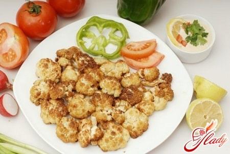 рецепт цветной капусты с овощами