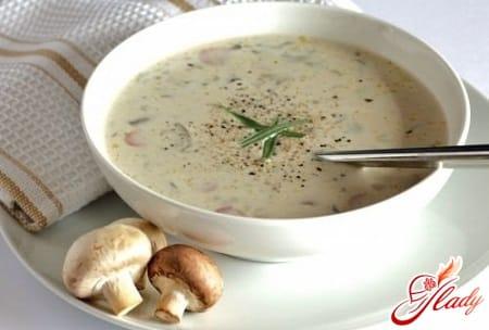 разные рецепты грибного супа с плавленным сыром