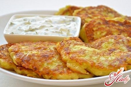 вкусные кабачковые оладьи с сыром
