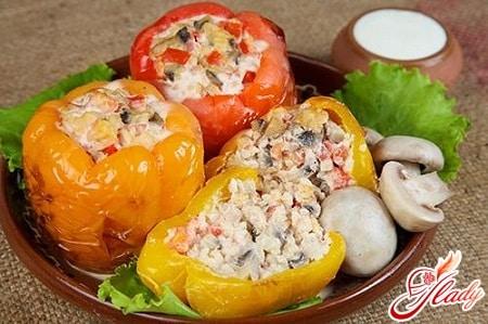 рецепт фаршированного перца овощами