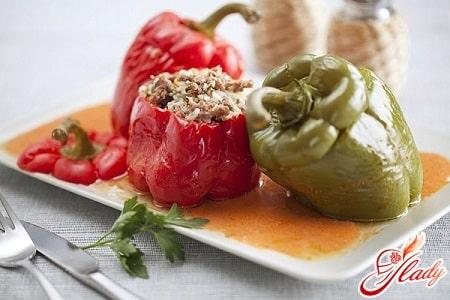 рецепт приготовления болгарского перца в мультиварке