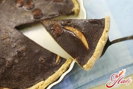 пирог с грушами в шоколаде