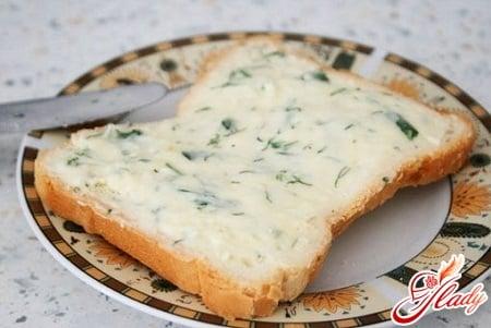 плавленный сыр с зеленью