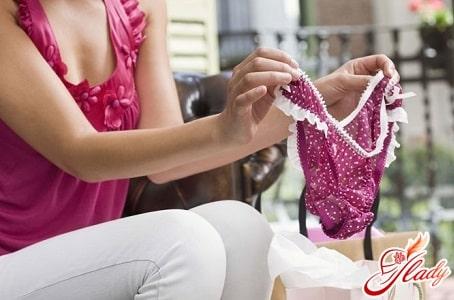 для избежания появления цистита подбирайте правильное нижнее белье