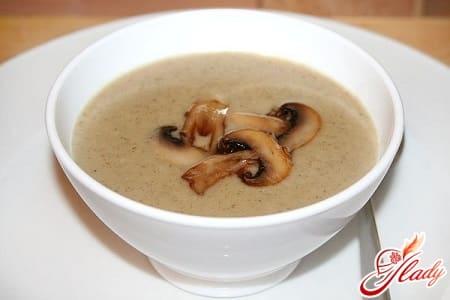 простой рецепт суп пюре из шампиньонов