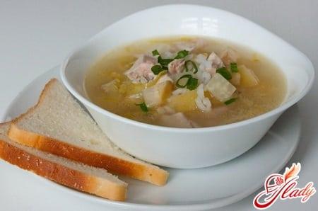простой рисовый суп