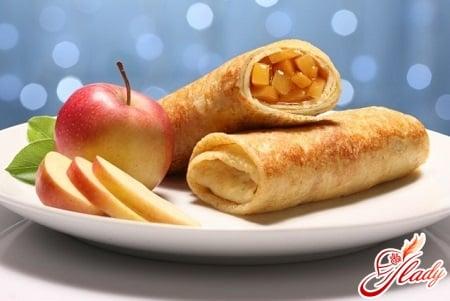 разные рецепты блинов с яблоками