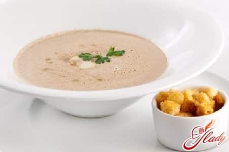 Грибной крем суп с сыром