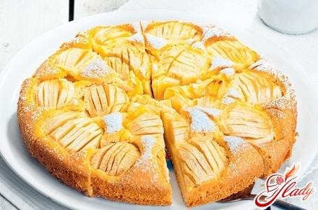 банановый пирог с яблоками